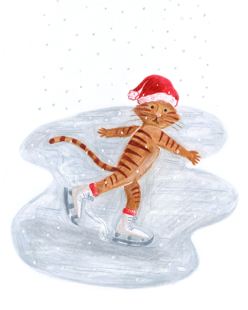 ice-skating-tiger